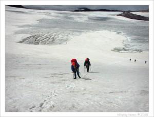На ледовых полях Эльбруса