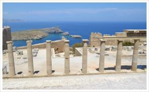 Остров Родос. Город Линдос. Древнегреческий храм