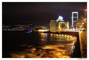 Ночной Бейрут. Набережная