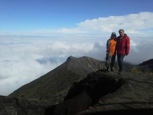 на вершине вулкана Иразу, Коста Рика