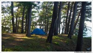 Лагерь на берегу моря