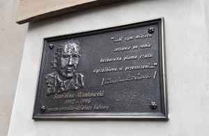 Мемориальная доска Станислава Мисаковского в Свидвинском замке