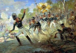 """Н.C.Самокиш """"Подвиг солдат Раевского под Салтыковкой"""", 1812 г"""