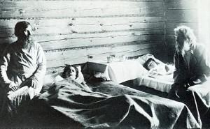 Холерный барак в Курской губернии