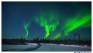 Мурманск,Северное сияние